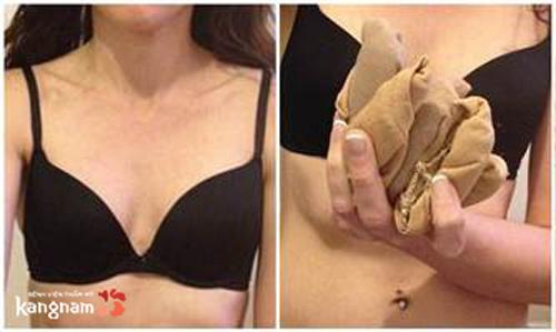 cách độn ngực bằng giấy ăn