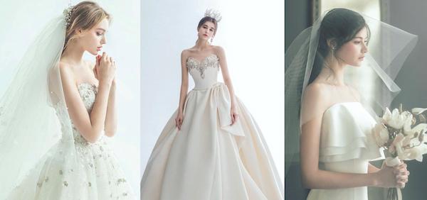 ngực nhỏ làm sao mặc váy cưới