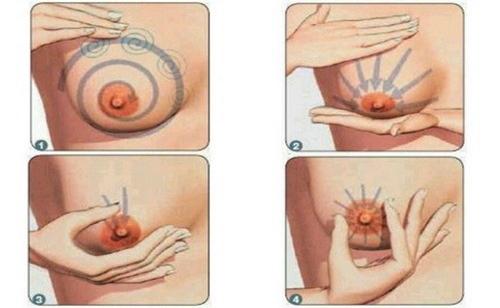 cách massage bầu ngực cho sữa về