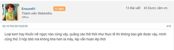thuốc nở ngực yanhee review