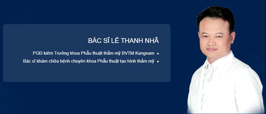 Bác sĩ chuyên khoa phẫu thuật tạo hình thẩm mỹ BVTM Kangnam