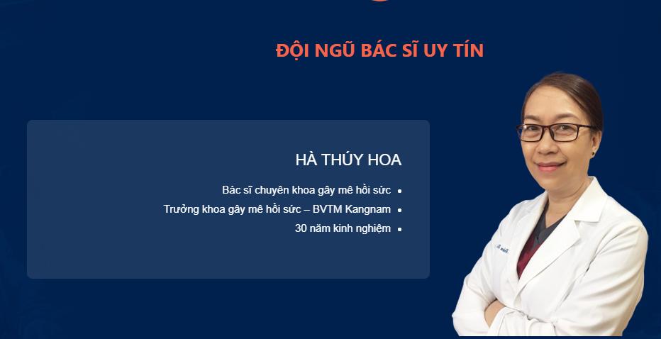 Chuyên gia gây mê hồi sức BVTM Kangnam